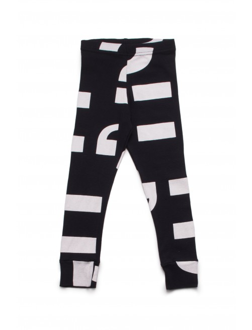 Leggings Nununu Punctuation Black