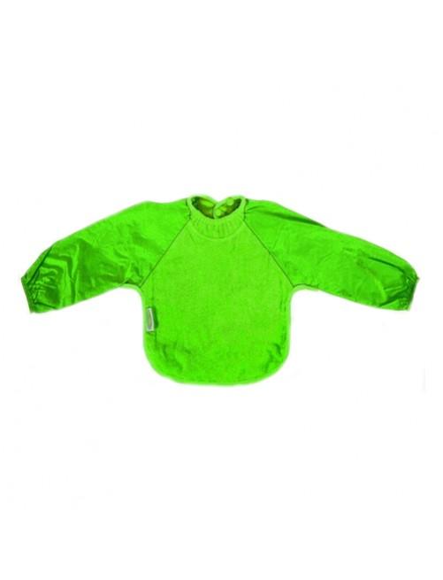 Babero Con Mangas Silly Billyz 6m- 2Y Waterproof Verde Comida Bebe Niño Impermiable Antimanchas Bwl Puericultura