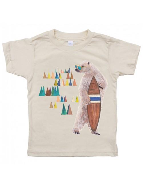 Camiseta Monikako Kids Bear&Surf Organic