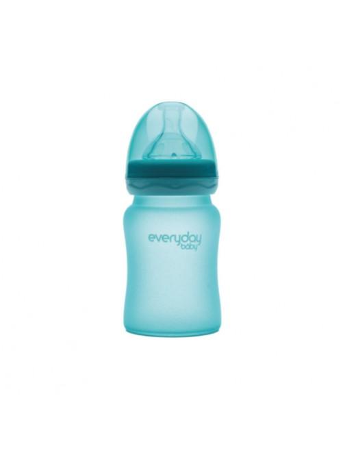 Biberón Cristal Milkhero Azul 150ml Everyday Baby Bebe Puericultura Zaragoza