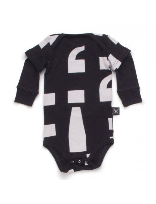 Body Nununu Punctuation Onesie Black