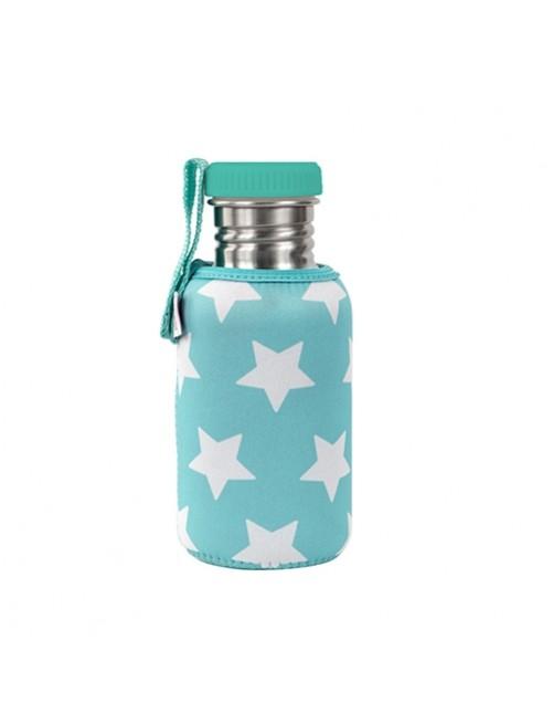 Botella-Acero-con-Funda-Neopreno-Estrellas-Turquesa-Agua-Tienda-Puericultura-Bebes-Zaragoza-Online