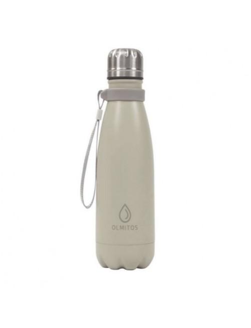 Botella-Acero-inox-Olmitos-Beige-500ml-Bebe-Accesorios-Tienda-Online-Zaragoza-Alimentacion-Liquidos-Termo-Agua