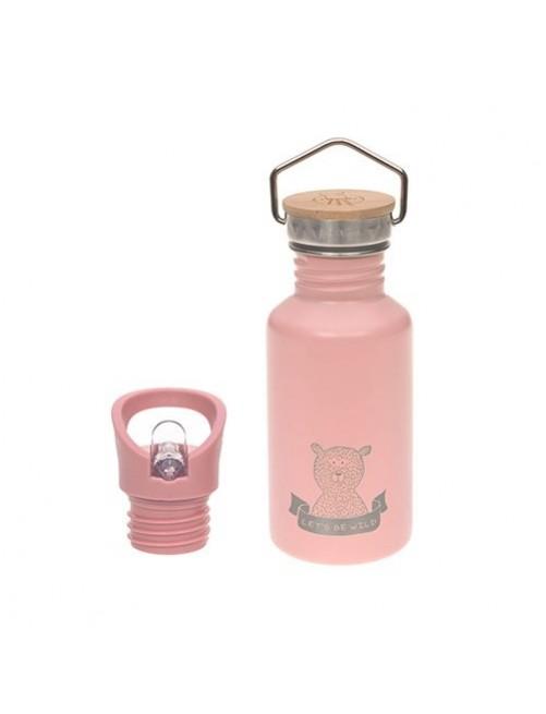 Botella-lassig-acero-inoxidable-rosa-pajita-Adventure-Rose-accesorios-bebes-vaso-beber-puericultura-tienda-online-zaragoza