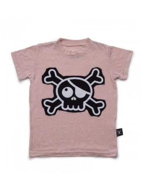 Camiseta Nununu Skull Patch Powder Pink