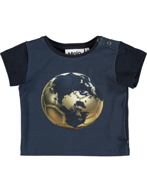 Camiseta Molo Kids Eddie Football Globe  Moda Infantil alternativa Zaragoza Bebe Tienda Online
