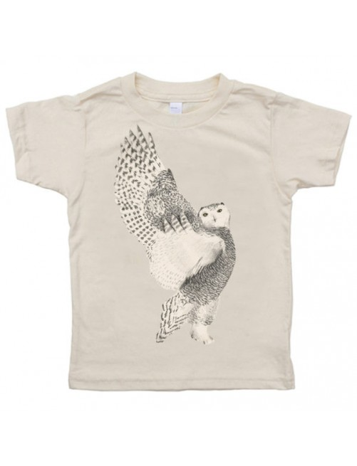 Camiseta Monikako Kids Artic Owl Organic