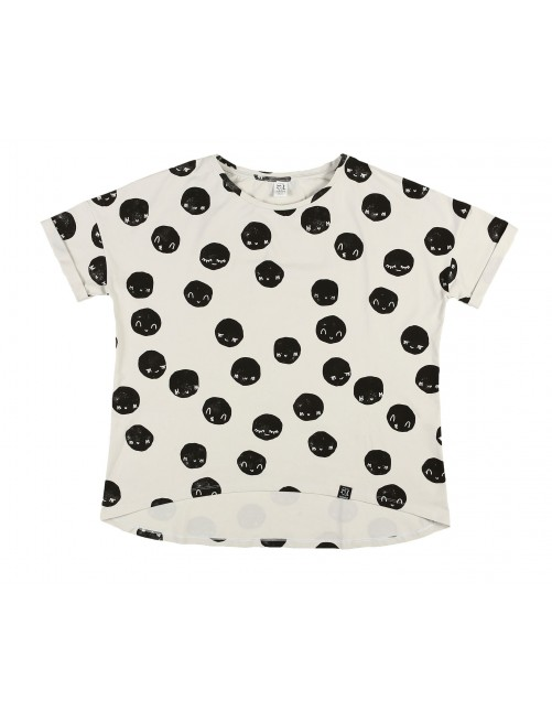 Camiseta Mommy Kukukid Off White Moon Cotton