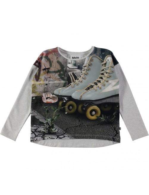 Camiseta Molo Kids Renate Roller moda infantil patines niña