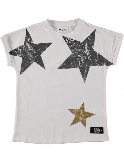 Camiseta Molo Kids River Bright White