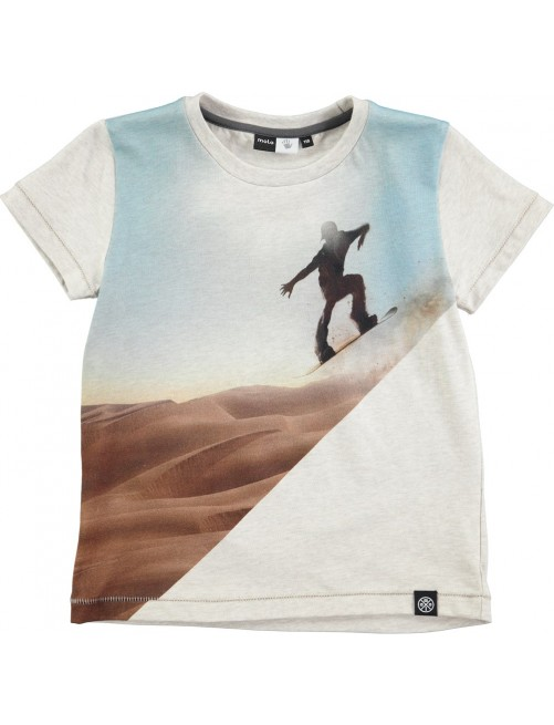 Camiseta Molo Kids Rosinol Sandboarder