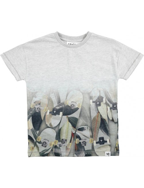 Camiseta Molo Kids Ruis Light Grey Melange moda Infantil Zaragoza Niños Alternativa