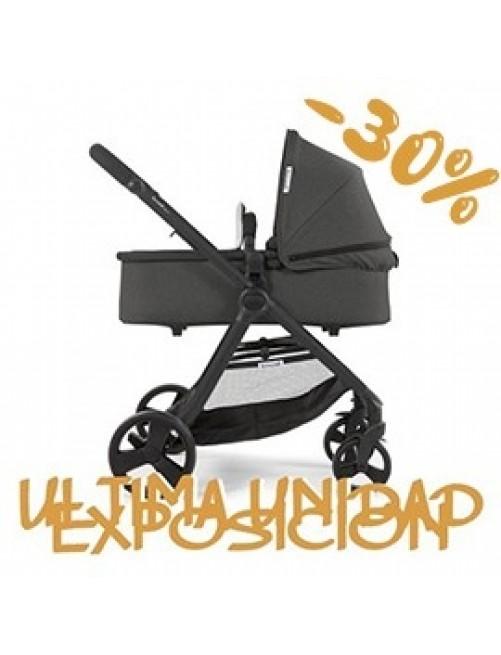 Carrito para bebé Bonarelli 300 2.0 Urban Grey.  Silla para bebé + Capazo + Silla Auto Puericultura Zaragoza 1