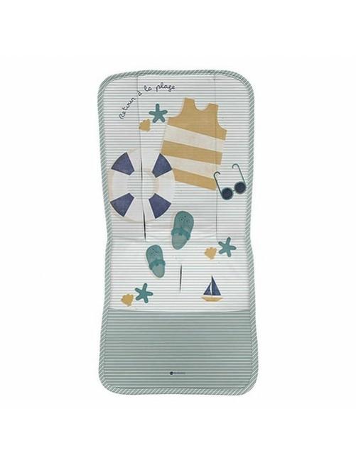 colchoneta-silla-recta-vacaciones-rayas-verde-punto-verano-antimosquitos-antiviral-bebe-accesorios-Puericultura-tienda-online-zaragoza