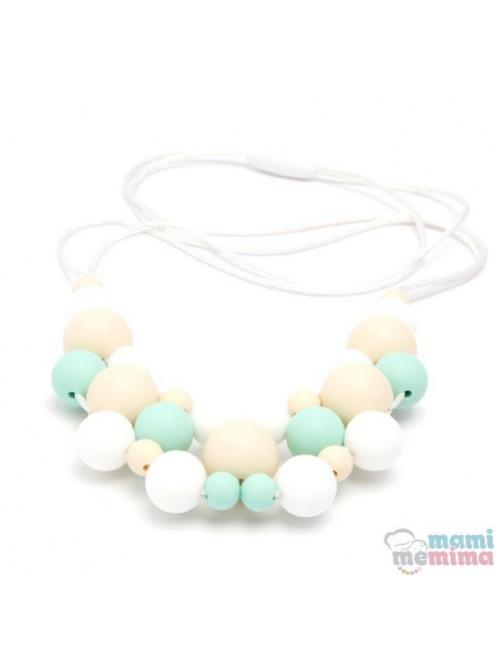 Collar de Lactancia Mordedor Silicona Mami Me Mima Modelo Jewelry Mint mama puericultura zaragoza