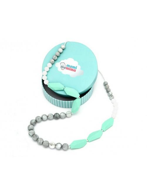 Collar de Lactancia Mordedor Silicona Mami Me Mima Sweet Mint