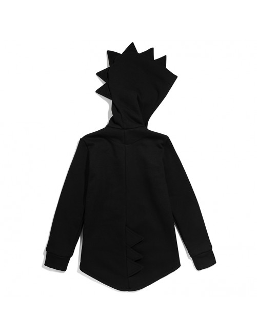 Sudadera Daddy Dino Hoodie Kukukid Cotton Black  1