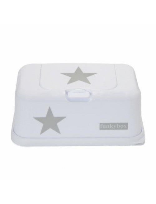 Dispensador FunkyBox blanco estrella plata
