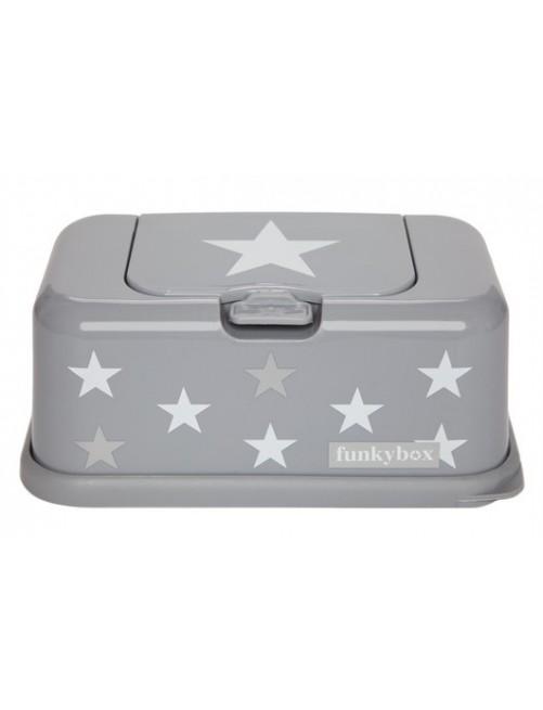 Dispensador Funky Box gris plata estrellas
