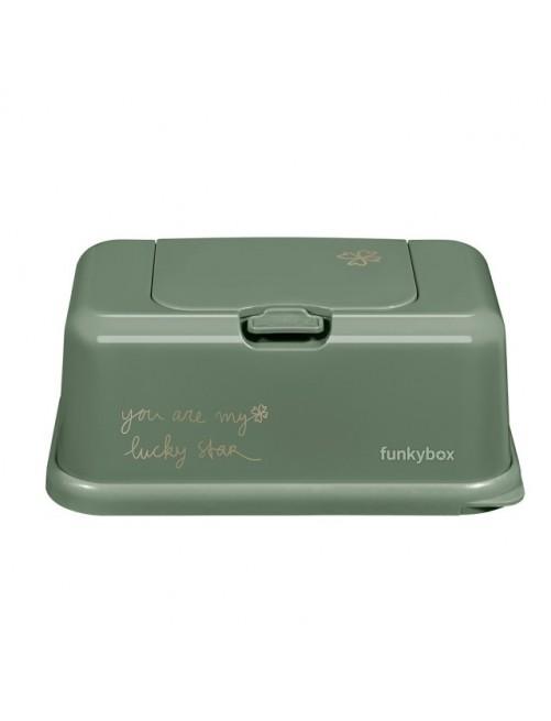 Dispensador FunkyBox Trebol Verde accesorios bebes tienda Puericultura Zaragoza mama recien nacido online
