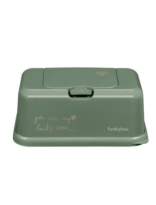 Dispensador FunkyBox Trebol Verde Accesorios bebes tienda puericultura zaragoza mama Recien nacido