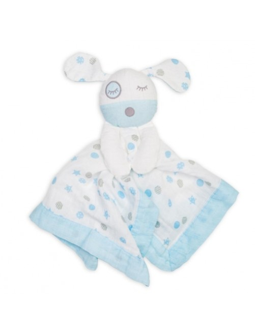 Doudou-Lulujo-Blue_Puppy-Muselina-Bebes-Tienda-Online-Zaragoza-Accesorios-Babyborm-Reciennacido-Mama