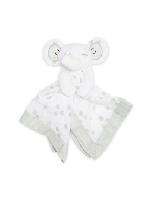 Doudou-Lulujo-Grey-Elephant-Muselina-Bebes-Tienda-Online-Zaragoza-Accesorios-Babyborm-Reciennacido-Mama