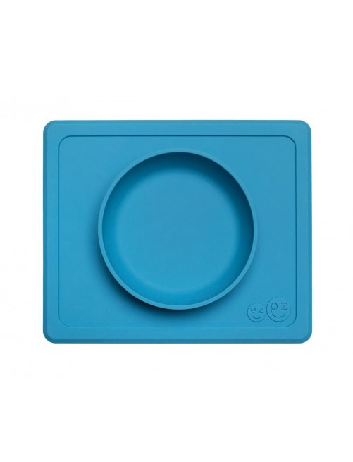 Cuenco The Happy Bowl Mini Blue EzPz blw puericultura zaragoza plato silicona