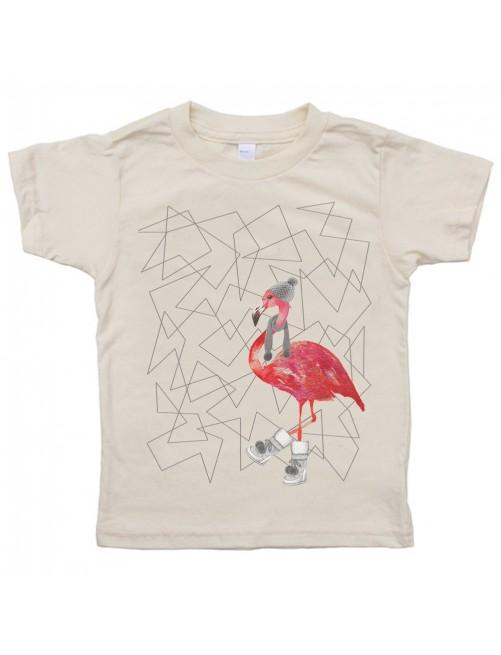 Camiseta Monikako Kids Flamingo Organic