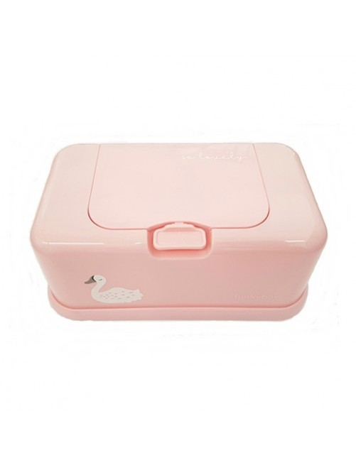 Funkybox-Caja-Toallitas-Cisne-Rosa-Tienda-Bebes-Zaragoza-Productobebe-Online-Shop-Mama-Accesorios-Portatoallita-Puericultura