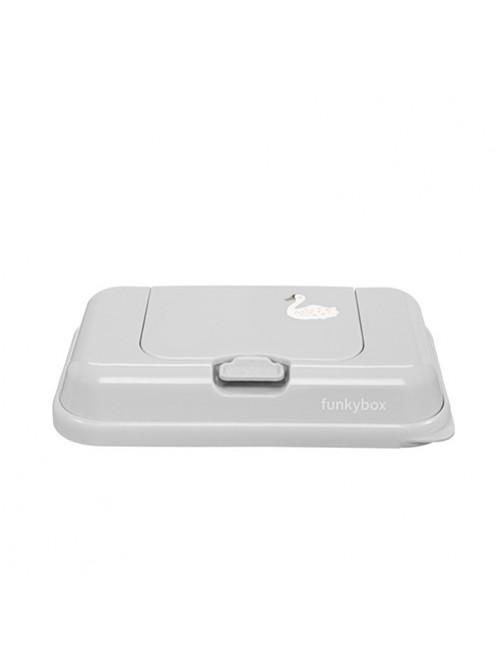 Funkybox-Caja-Toallitas-To-Go-Cisne-Gris-Accesorios-Puericultura-Tienda-Bebes-Zaragoza-Mamas-Recien-Nacido