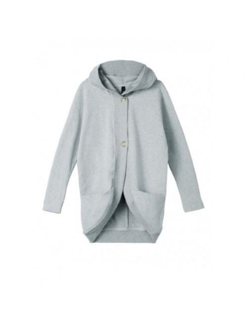 Sudadera Capucha Hoodie 10Days Light Grey Melee  moda infantil zaragoza modacasual alternativa tienda moda infantil  zaragoza