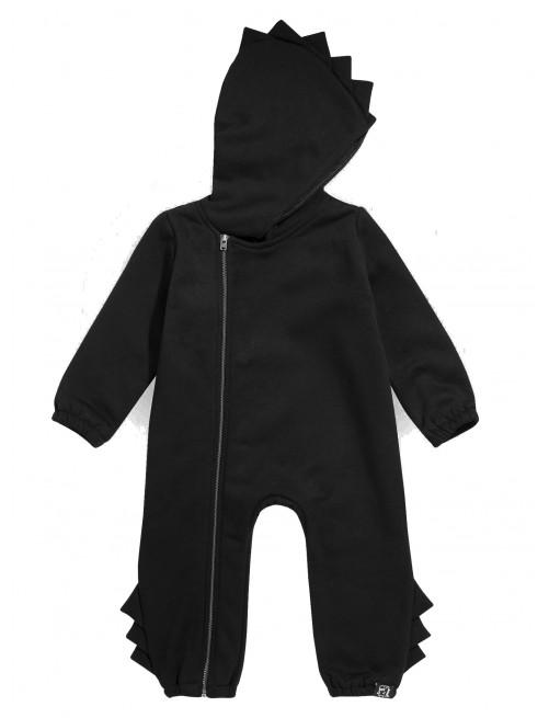 Mono Romper Dino Kukukid Cotton Black  moda infantil bebe zaragoza
