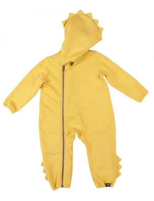 Mono Romper Dino Kukukid Cotton Yellow bebe moda infantil bebe zaragoza