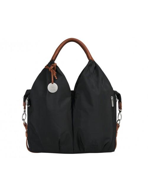 Bolso Cambiador Signature Black Lassig Diseño Casual Mama Moderna Cuero Puericultura