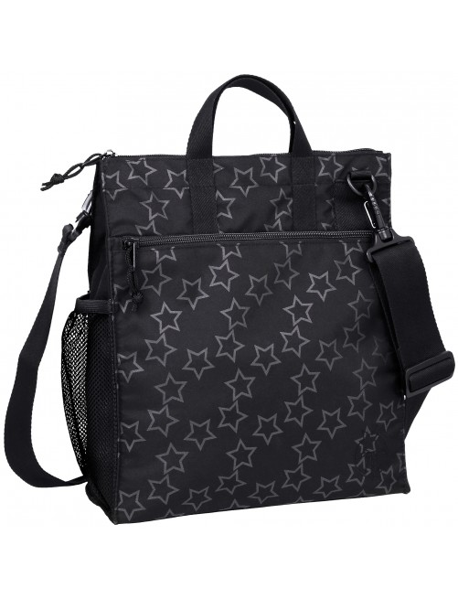 Bolso Lassig Buggy Bag Reflective Star black