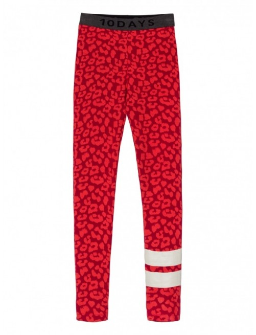 Leggins 10Days Leopard Dark Red Moda Infantil Urbana Casual Zaragoza Tienda Online Niños