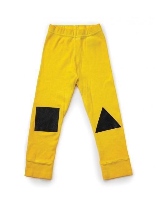 Leggins Nununu Geometric Dusty Yellow moda infantil alternativa Zaragoza tienda online