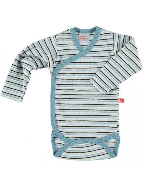 Body Limobasics Manga larga Stripe Azul