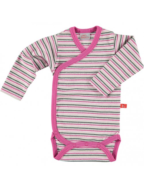 Body Limobasics Manga larga Stripe Rosa