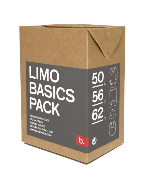 Pack primera puesta Limobasics dark grey moda bebe recien nacido algodon organico