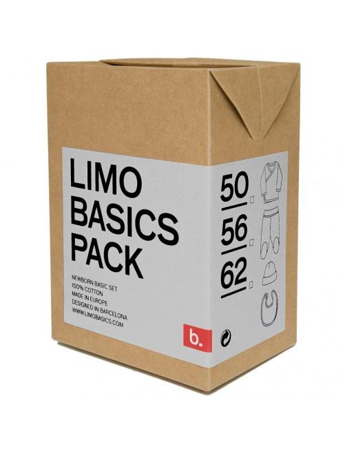 Pack primera puesta Limobasics Lightgrey moda bebe recien nacido algodon organico