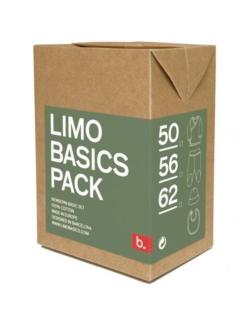 Pack primera puesta Limobasics Verde Musgo moda recien nacido algodon organico