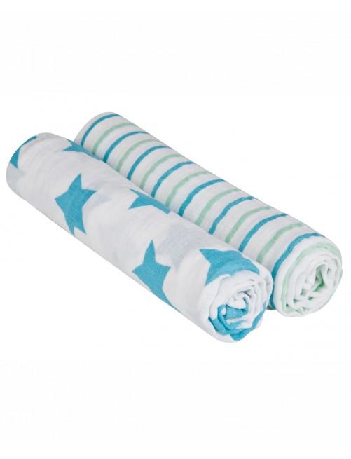 Muselina XL Lassig Estrella Azul