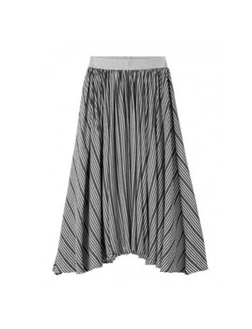 Falda Larga Stripe 10Days Black Blue  moda infantil zaragoza modacasual alternativa tienda moda infantil  zaragoza