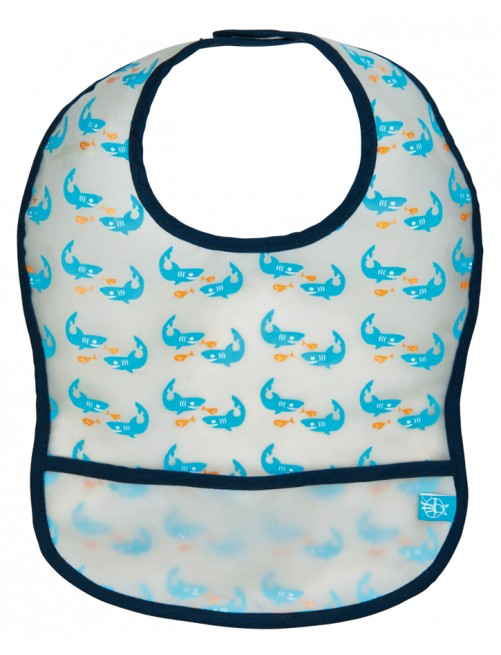 Babero Lassig Eva Tiburones Azul