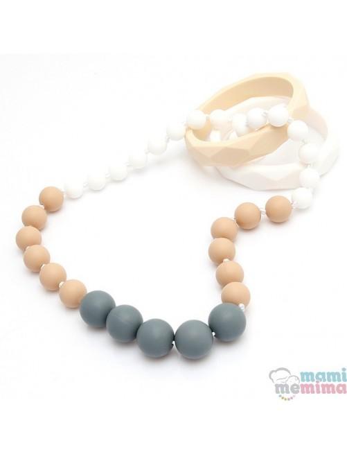 Collar de Lactancia Mordedor Silicona Modelo Dafne mama puericultura Zaragoza tienda online bebes