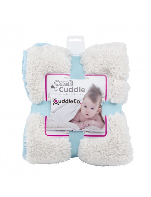 Manta Reversible Cuddle Comfi Azul puericultura zaragoza bebe arrullo