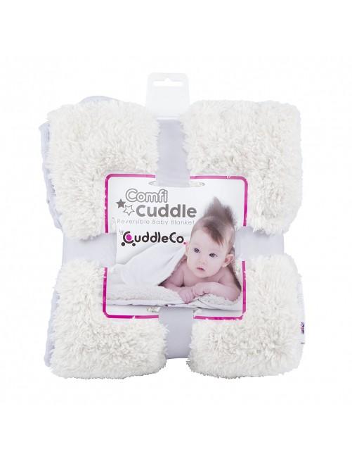 Manta Reversible Cuddle Comfi Gris puericultura zaragoza bebe arrullo