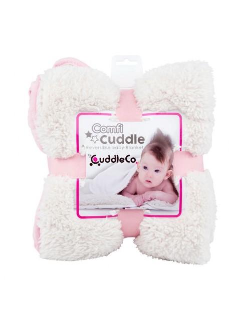 Manta Reversible Cuddle Comfi Rosa puericultura zaragoza bebe arrullo